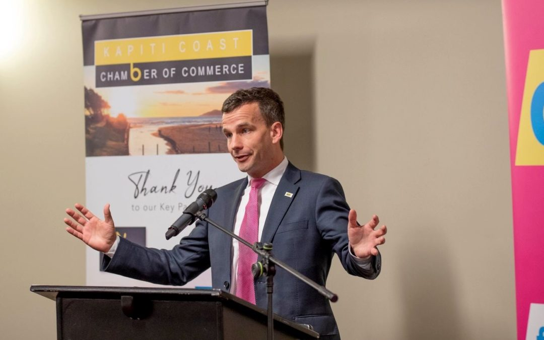 Kāpiti Chamber of Commerce hosts Act leader David Seymour for lively post-Budget event